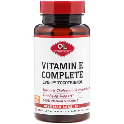 Комплекс с витамином Е, 60 мягких желатиновых капсул