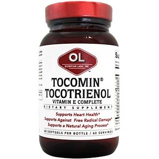 Olympian Labs Inc., Tocomin Tocotrienol、ビタミンEコンプリート、ソフトジェル 60錠