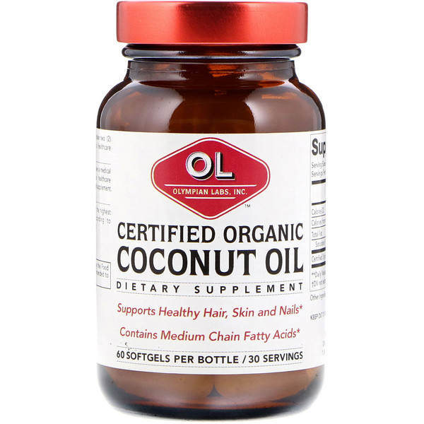 Certified Organic Coconut Oil, 60 Softgels