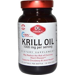 Olympian Labs Inc., Krill Oil, 1000 mg, 60 Softgels