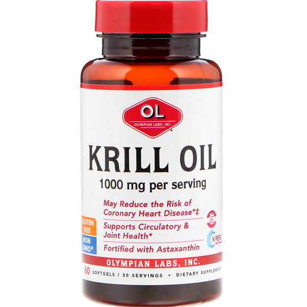 Olympian Labs, Krill Oil, 1000 mg, 60 Softgels