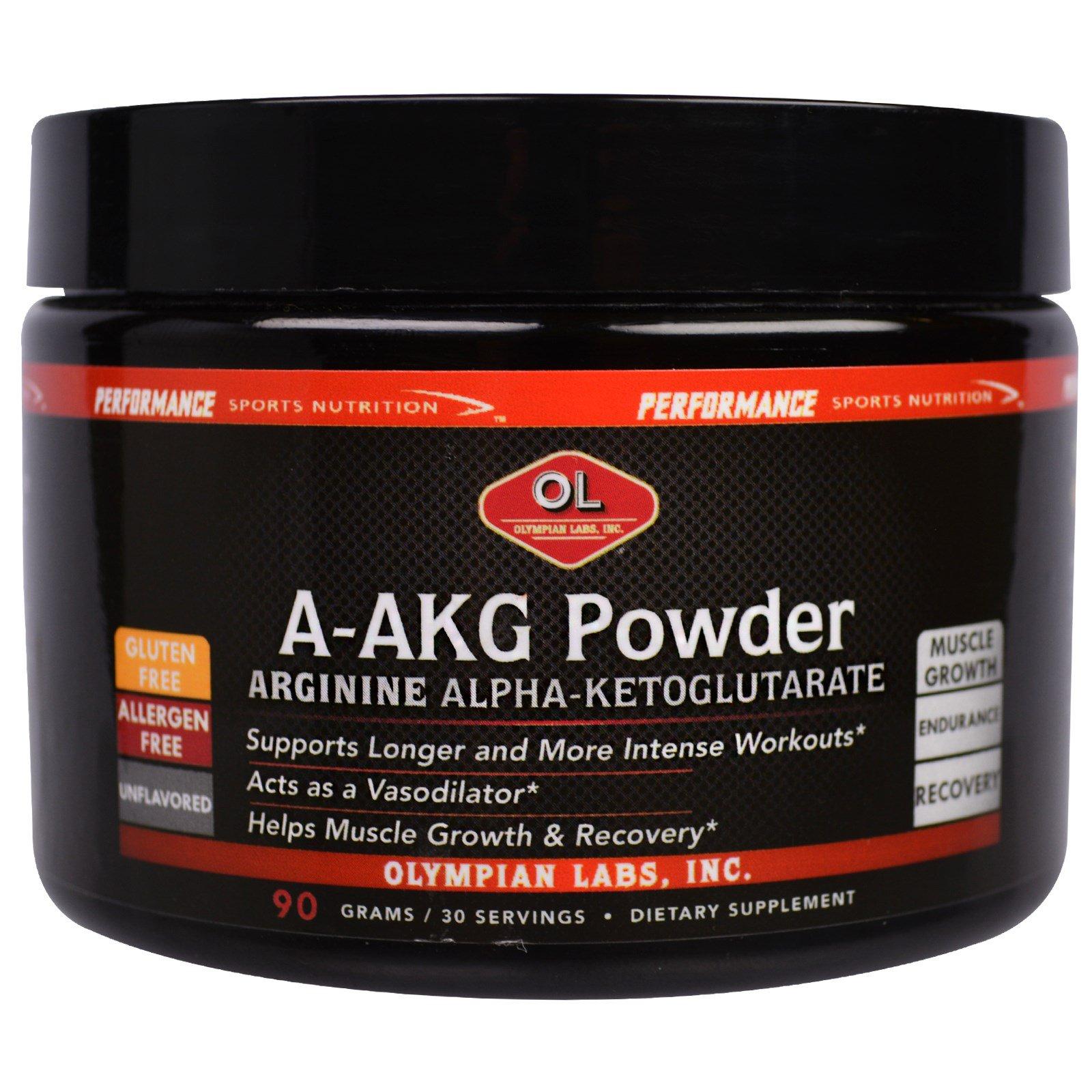 Olympian Labs Inc A Akg Powder Arginine Alpha Ketoglutarate Pre
