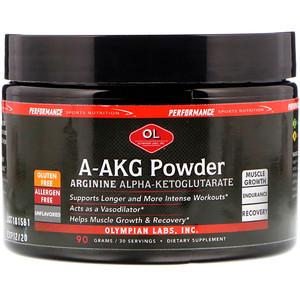 Олимпиан Лэбс, A-AKG Powder, Arginine Alpha-Ketoglutarate, Unflavored, 90 g отзывы покупателей