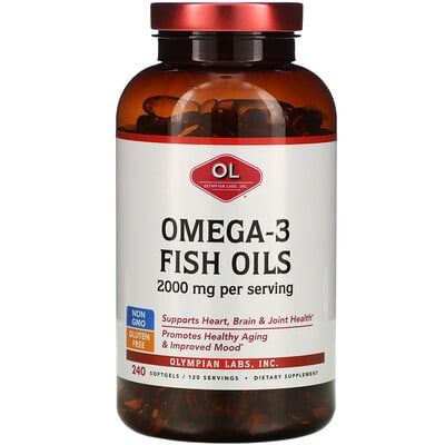 Купить Olympian Labs Омега-3 рыбий жир 2000 мг, 240 мягких капсул