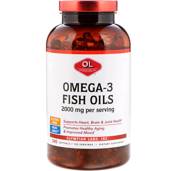 Omega-3 Fish Oils, 2000 mg, 240 Softgels