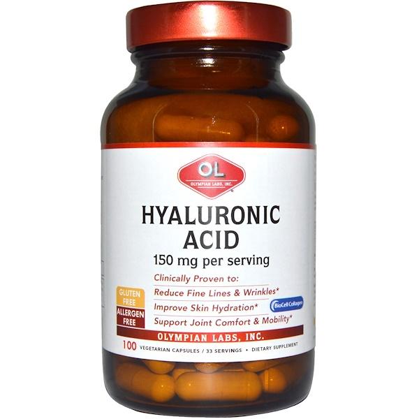 Olympian Labs Inc., Hyaluronic Acid, 150 mg, 100 Veggie Caps