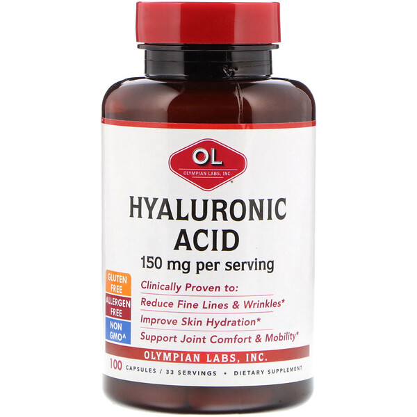 Hyaluronic Acid, 150 mg, 100 Capsules