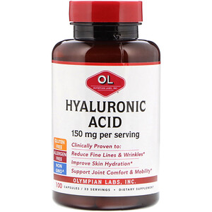 Олимпиан Лэбс, Hyaluronic Acid, 150 mg, 100 Capsules отзывы