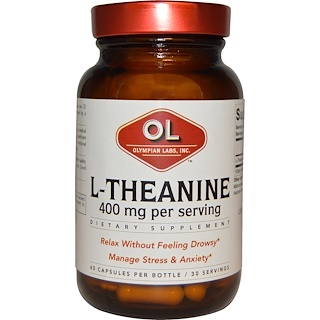 Olympian Labs Inc., L-Theanine, 400 mg, 60 Capsules