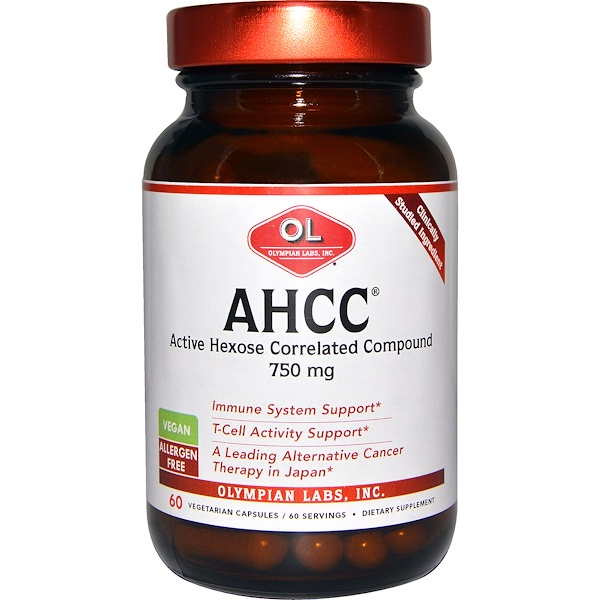 Olympian Labs Inc., AHCC, 750 mg, 60 Veggie Caps (Discontinued Item)