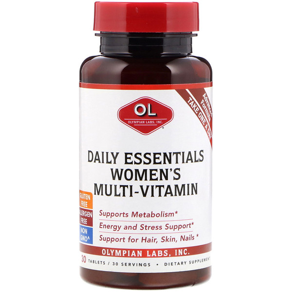Olympian Labs Inc、, Daily Essentials Women's Multi-Vitamin, 30 Tablets