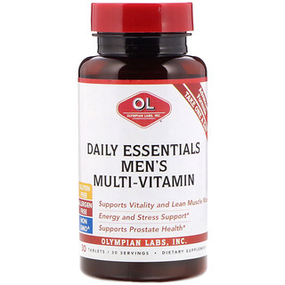 Olympian Labs Inc., Daily Essentials Men's Multi-Vitamin, 30 Tablets