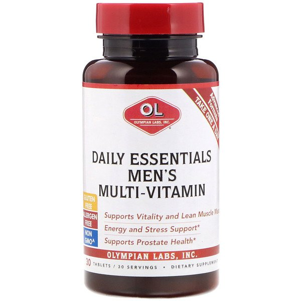 Olympian Labs, Daily Essentials Men's Multi-Vitamin, 30 Tablets (Discontinued Item)