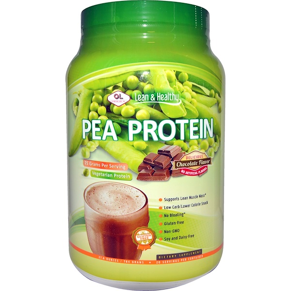 Olympian Labs Inc., Pea Protein, Chocolate Flavor, 27.6 oz (784 g) (Discontinued Item)