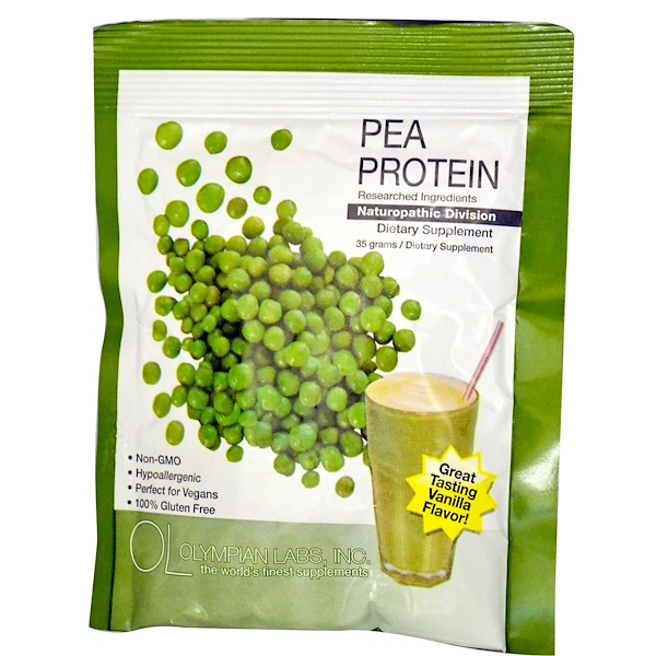 Olympian Labs Inc., Pea Protein, Vanilla Flavor, 35 g (Discontinued Item)