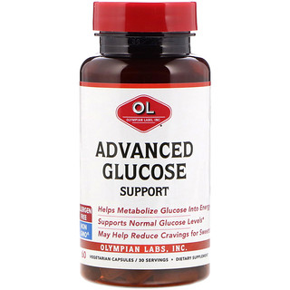 Olympian Labs Inc., Advanced Glucose Support, 60 Vegetarian Capsules