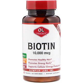 Olympian Labs Inc., Biotin, 10,000 mcg, 60 Tablets