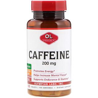 Olympian Labs Inc., Caffeine, 200 mg, 100 Tablets