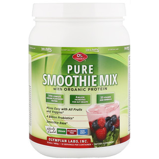 Olympian Labs Inc., Pure Smoothie Mix with Organic Protein, Naturally Flavored, 18.9 oz (480 g)