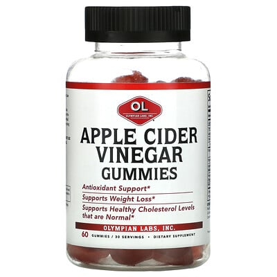 Olympian Labs Apple Cider Vinegar Gummies, 60 Gummies
