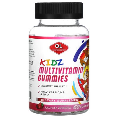 Olympian Labs Kidz Multivitamin Gummies, Radical Berries, 60 Gummies