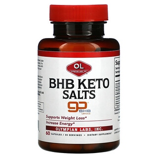 Olympian Labs, BHB Keto Salts, 60 Capsules