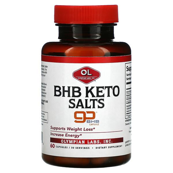 BHB Keto Salts, Supports Weight Loss, 60 Capsules