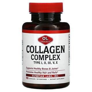 Olympian Labs, Collagen Complex Type I, II, III, V, X, 90 Capsules
