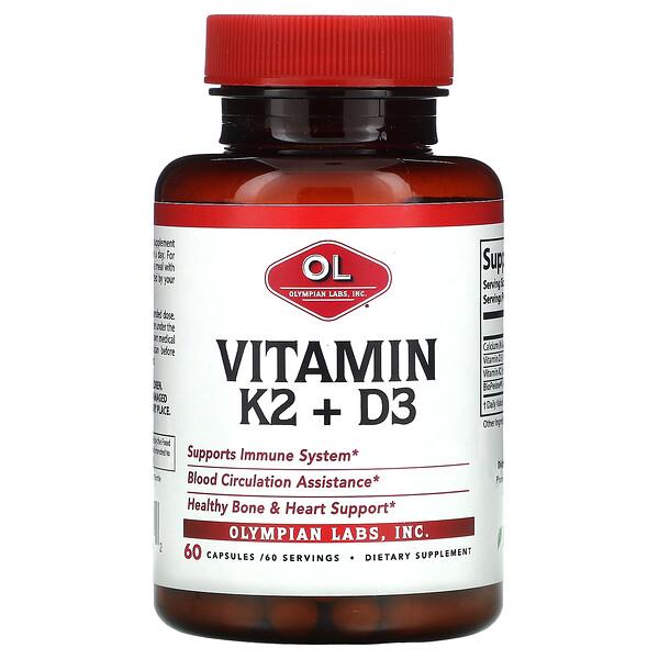 Vitamin K2 + D3, 60 Capsules