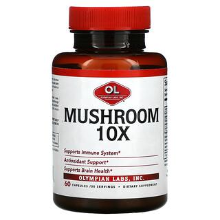 Olympian Labs, Mushroom 10X, 60 Capsules