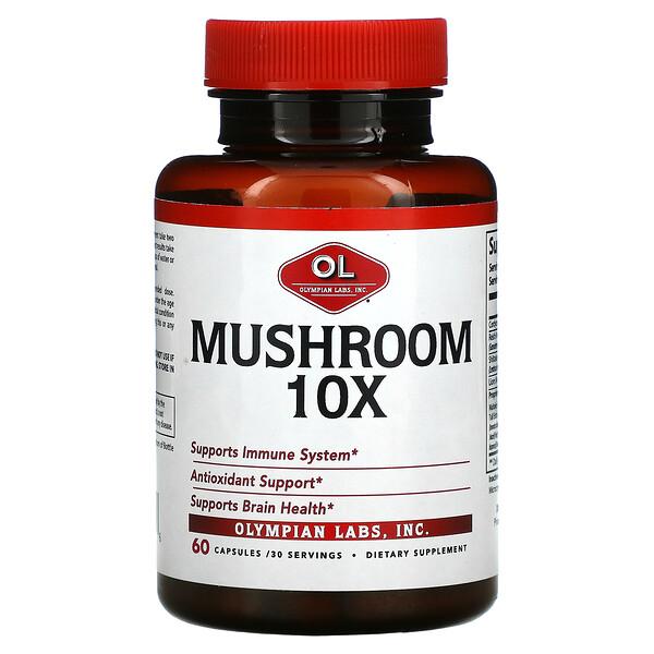 Mushroom 10X, 60 Capsules