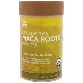 OMG! Food Company, LLC, Organic Raw, Maca Roots Powder, 8 oz (227 g)
