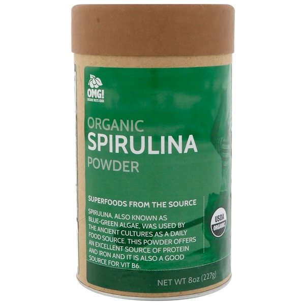 OMG! Organic Meets Good, Organic, Spirulina Powder, 8 oz (227 g)
