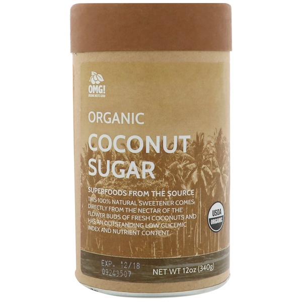 OMG! Organic Meets Good, Organic, Coconut Sugar, 12 oz (340 g) (Discontinued Item)