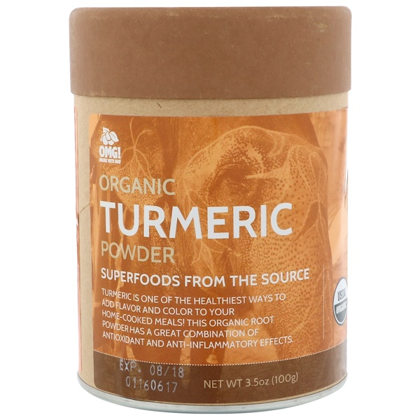 OMG! Organic Meets Good, Organic, Turmeric Powder, 3.5 oz (100 g) (Discontinued Item)