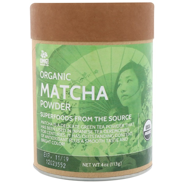 OMG! Organic Meets Good, Organic, Matcha Powder, 4 oz (113 g)