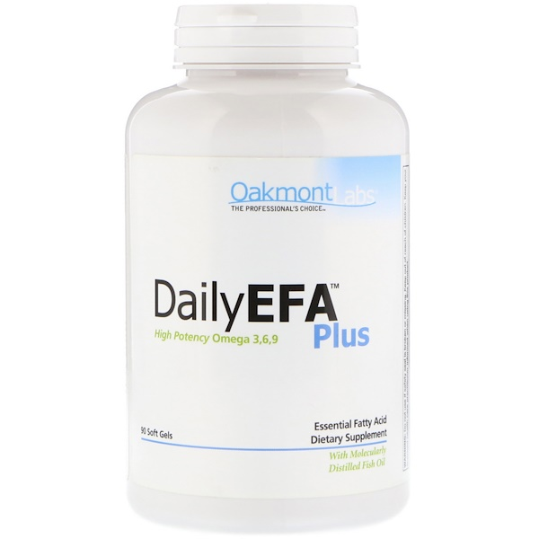Oakmont Labs, Daily EFA Plus,高效Omega 3、6、9,90粒軟膠囊 (Discontinued Item)