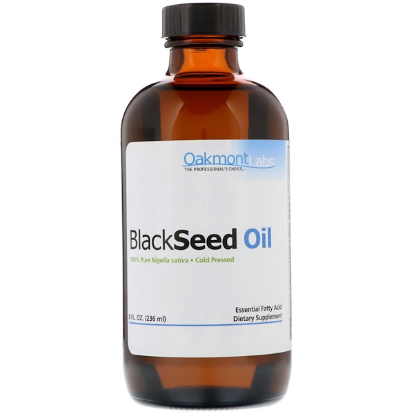 Oakmont Labs, Black Seed Oil, Cold Pressed, 8 fl oz (236 ml)