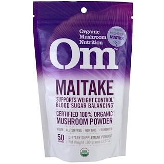 OM Organic Mushroom Nutrition, Maitake, Mushroom Powder, 3.57 oz (100 g)