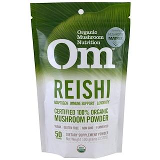 Organic Mushroom Nutrition, Reishi, hongos en polvo, 3.57 oz (100 g)
