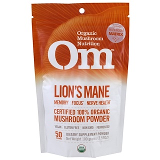 Organic Mushroom Nutrition, Melena de león, hongo en polvo, 3.57 oz (100 g)