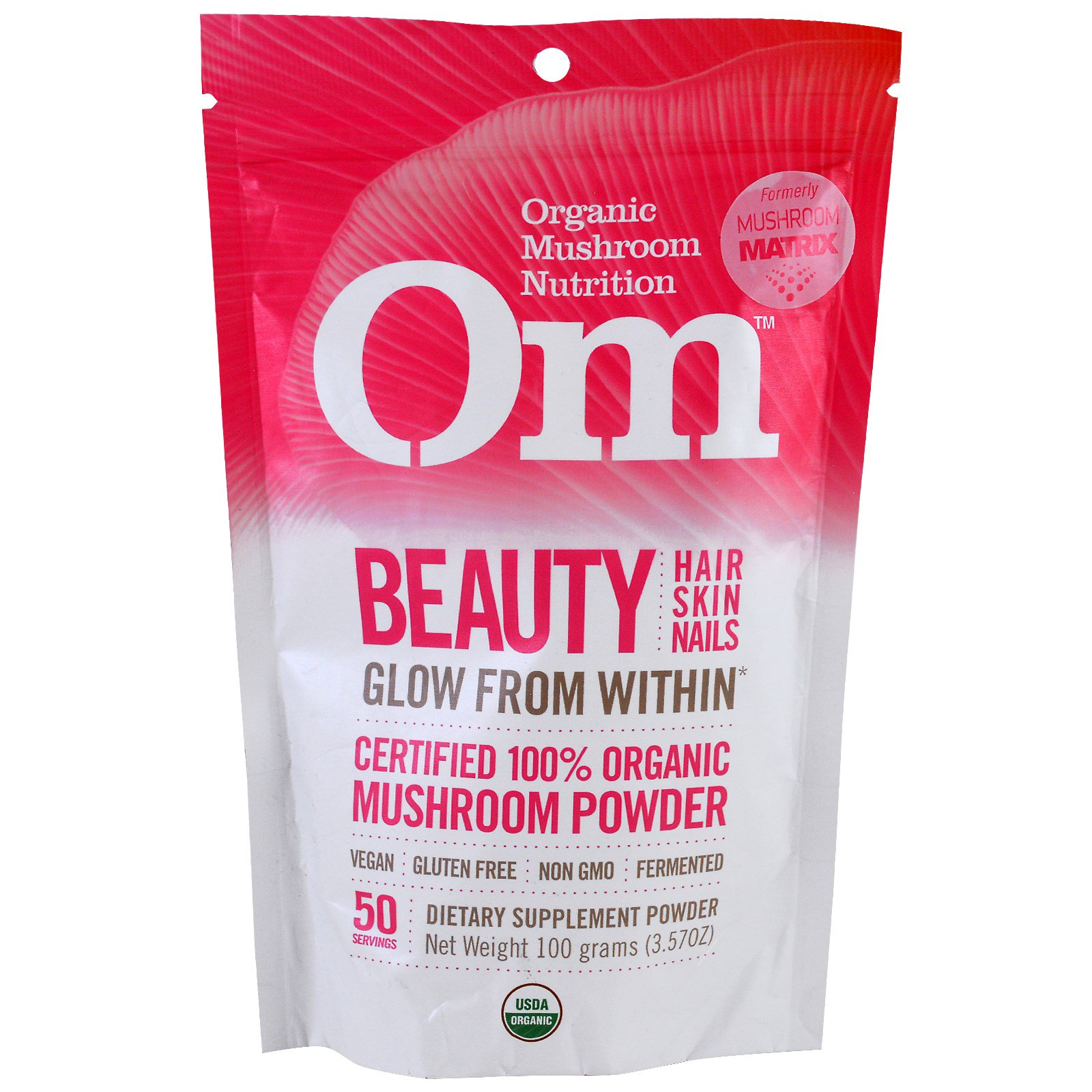 Organic Mushroom Nutrition, Красота, грибной порошок, 3.57 унций (100 г)