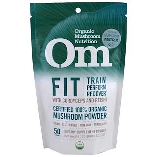 OM Organic Mushroom Nutrition, Fit, Mushroom Powder, 3.57 oz (100 g)