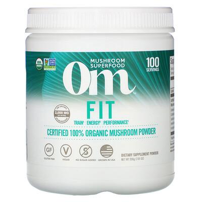 Om Mushrooms Fit, Certified 100% Organic Mushroom Powder, 7.05 oz (200 g)
