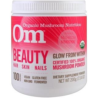OM Organic Mushroom Nutrition, Beauty, Mushroom Powder, 7.14 oz (200 g)