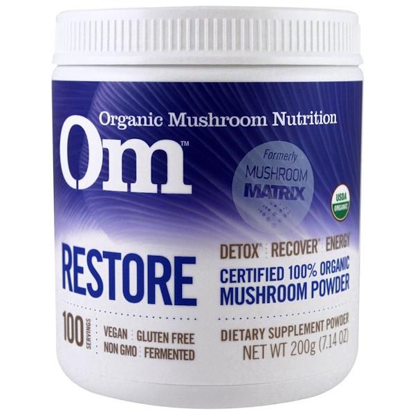 Organic Mushroom Nutrition, الترميم، مسحوق الفطر، 7.14 أوقية (200 غم) (Discontinued Item)