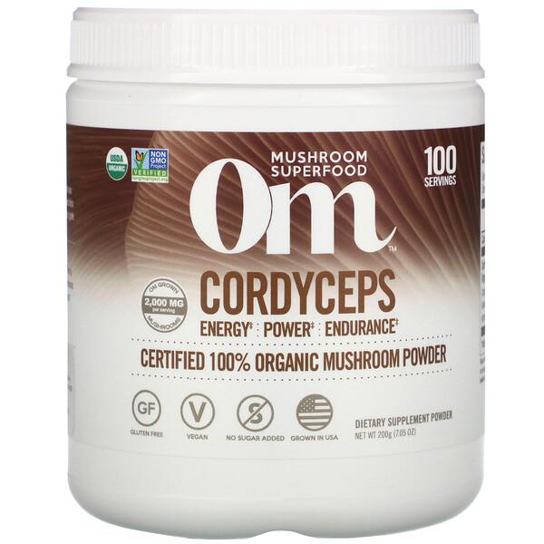 Cordyceps, Certified 100% Organic Mushroom Powder, 7.05 oz (200 g)