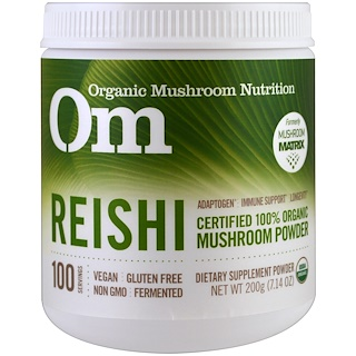 OM Organic Mushroom Nutrition, Reishi, Mushroom Powder, 7.14 oz (200 g)