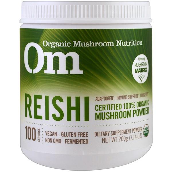 Organic Mushroom Nutrition, Reishi, Mushroom Powder, 7.14 oz (200 g)