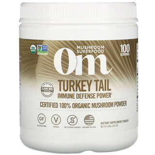 Om Mushrooms, Turkey Tail, Certified 100% Organic Mushroom Powder, 7.05 oz (200 g)